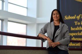 Native American Health Care Expert Melissa Lewis. Photo by Erin Achenbach/Vox Magazine.