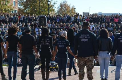 I helped report on the protests at the University of Missouri in the fall of 2015 for The Maneater. Photo from The Maneater.